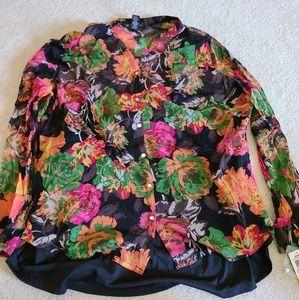 Plus size floral shirt for sale